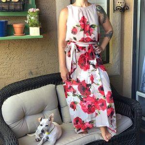 Floral Formal Hi-Lo Dress